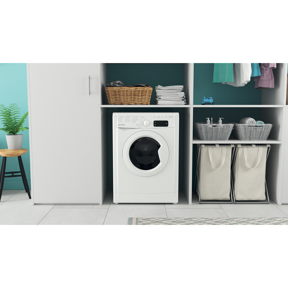 Indesit Washer dryer Free-standing IWDD 75145 UK N White Front loader Lifestyle frontal
