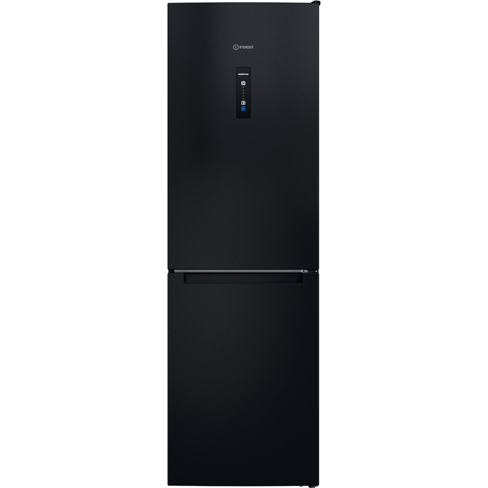 Indesit Réfrigérateur combiné Pose-libre INFC8 TO22K Noir 2 portes Frontal