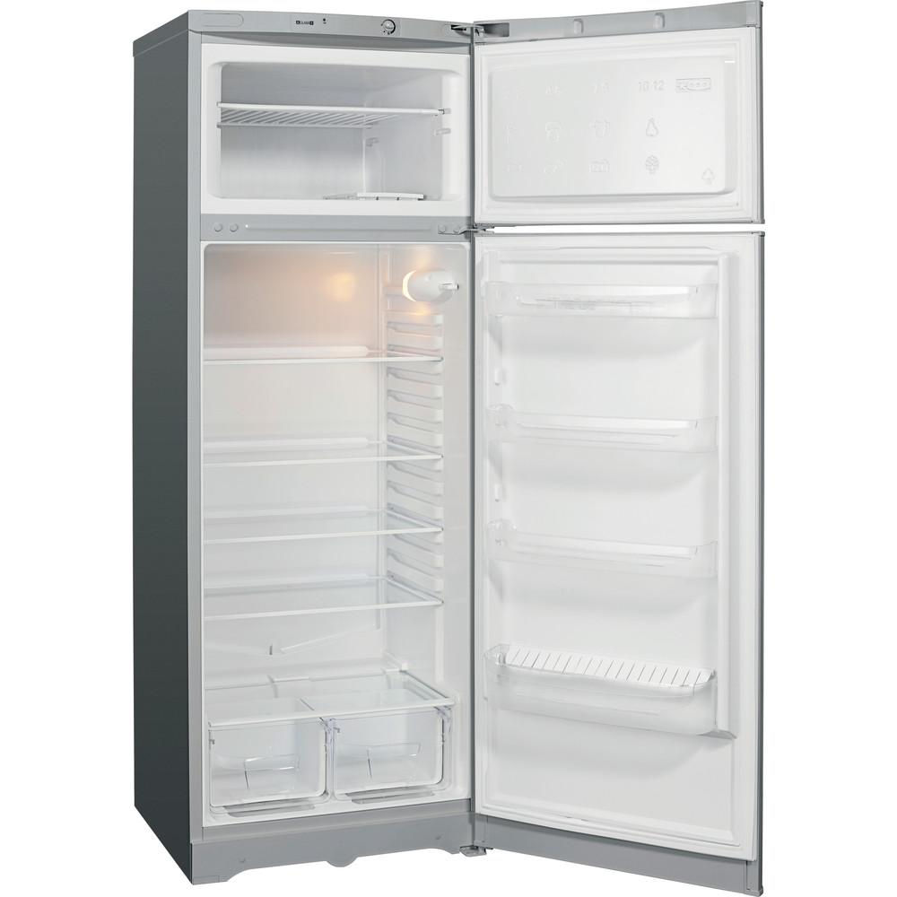 Indesit Холодильник с морозильной камерой Отдельностоящий TIA 16 S Серебристый 2 doors Perspective open