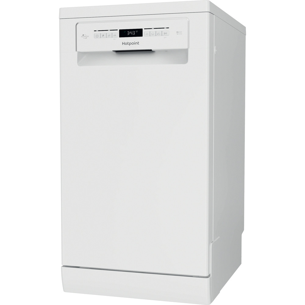 Hotpoint Dishwasher Free-standing HSFO 3T223 W UK N Free-standing E Perspective