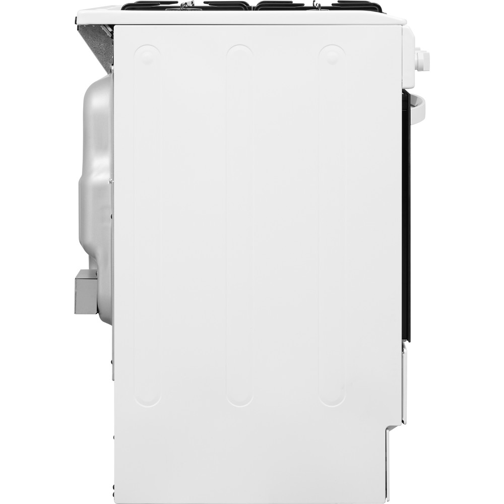 Indesit Cooker IS5G1KMW/U White GAS Back / Lateral
