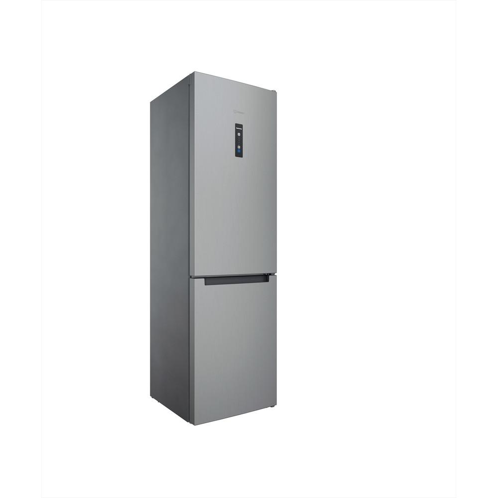 Indesit Combiné réfrigérateur congélateur Pose-libre INFC9 TO32X Inox 2 portes Perspective