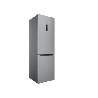 Indesit Hűtő/fagyasztó kombináció Szabadonálló INFC9 TO32X Inox 2 doors Perspective