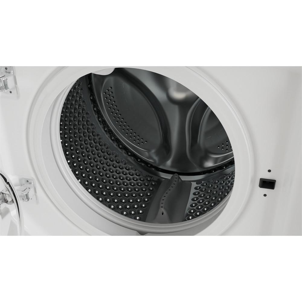 Indesit Washer dryer Built-in BI WDIL 861284 UK White Front loader Drum
