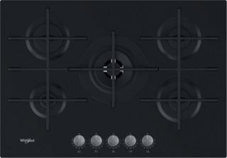 Whirlpool plinska kuhalna plošča: 5 plinski gorilniki - GOWL 728/NB