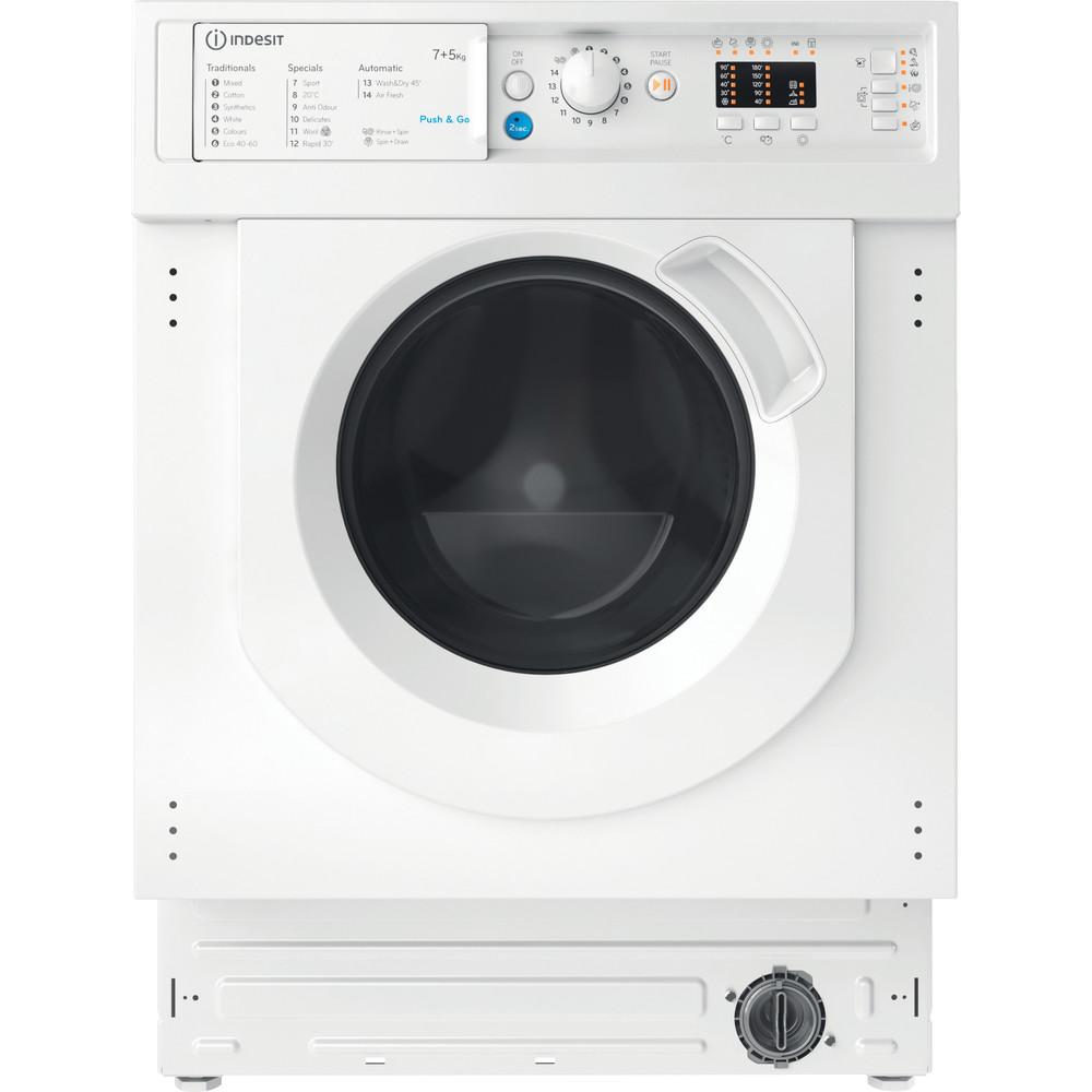 Indesit Washer dryer Built-in BI WDIL 75125 UK N White Front loader Frontal