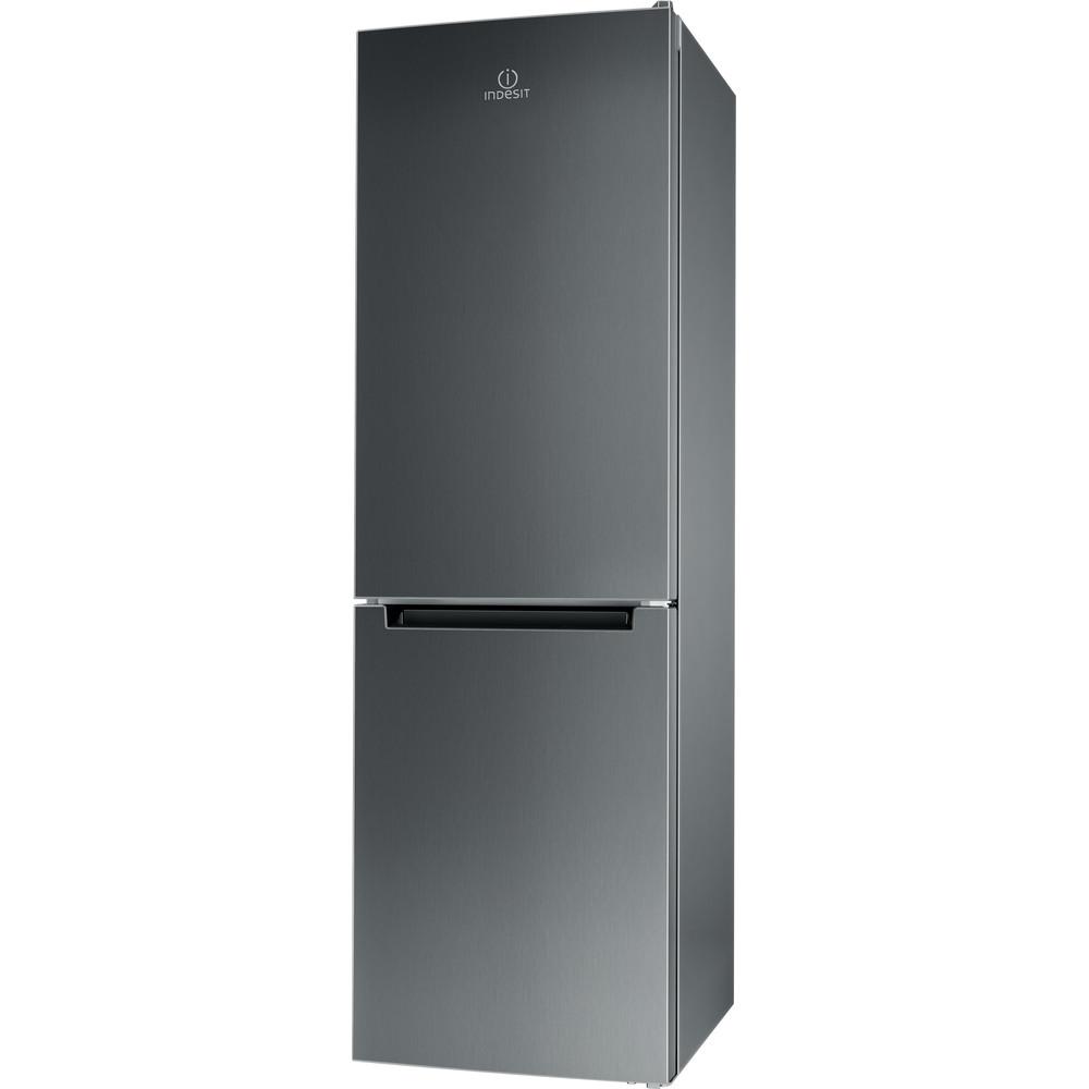 Indesit Kombinerat kylskåp/frys Fristående XIT8 T2E X Optic Inox 2 doors Perspective