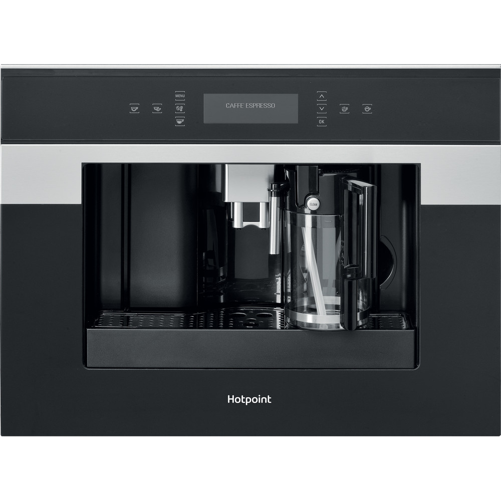 Hotpoint Built-in coffee machine CM 9945 H Black/Inox Fully automatic Frontal