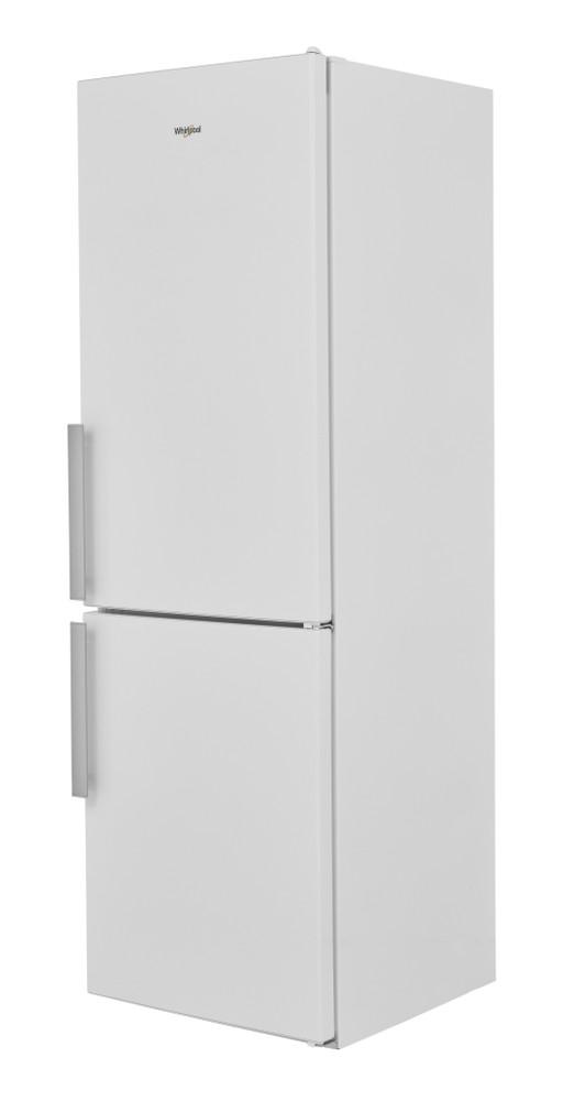 Whirlpool Fridge-Freezer Combination Free-standing W5 811E W UK 1 Optic Inox 2 doors Perspective