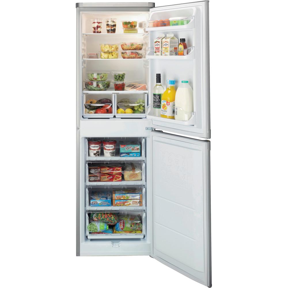 Indesit Fridge Freezer Free-standing IBD 5517 S UK 1 Silver 2 doors Frontal open