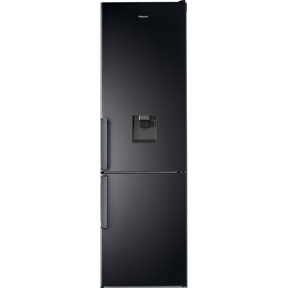 Hotpoint Fridge Freezer Free-standing H7T 911A KS H AQUA 1 Black/Inox 2 doors Frontal