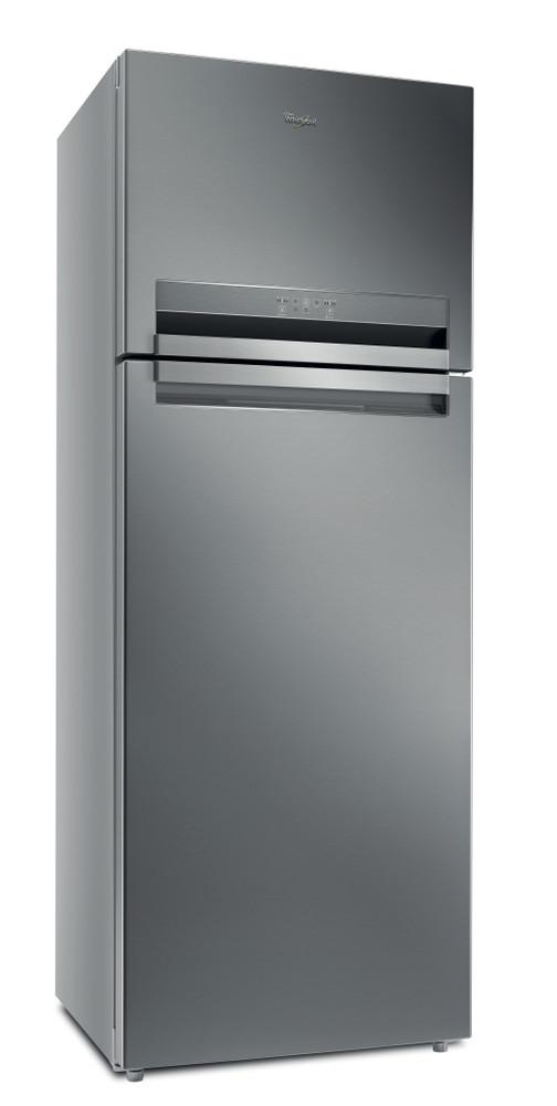 Whirlpool Fridge Freezer Free-standing T TNF 9322 OX Optic Inox 2 doors Perspective