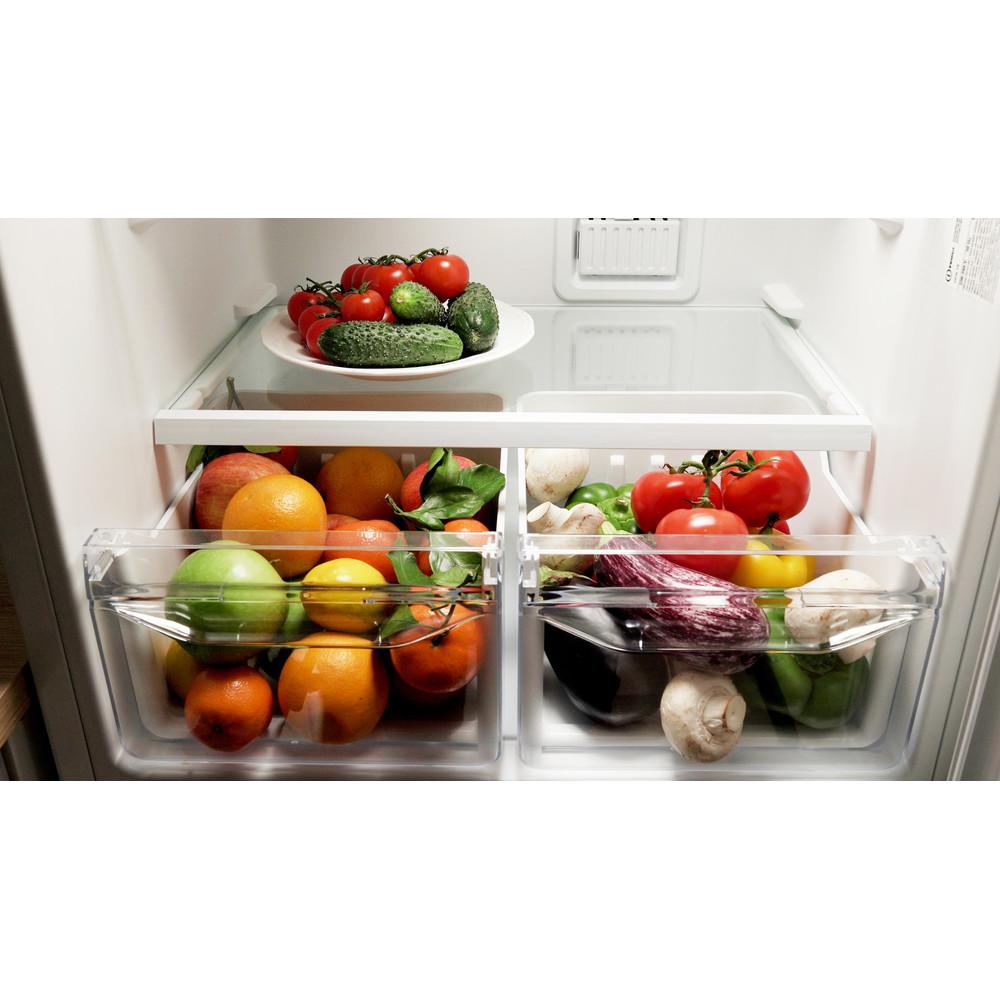 Indesit Холодильник с морозильной камерой Отдельностоящий DFN 16 Белый 2 doors Drawer