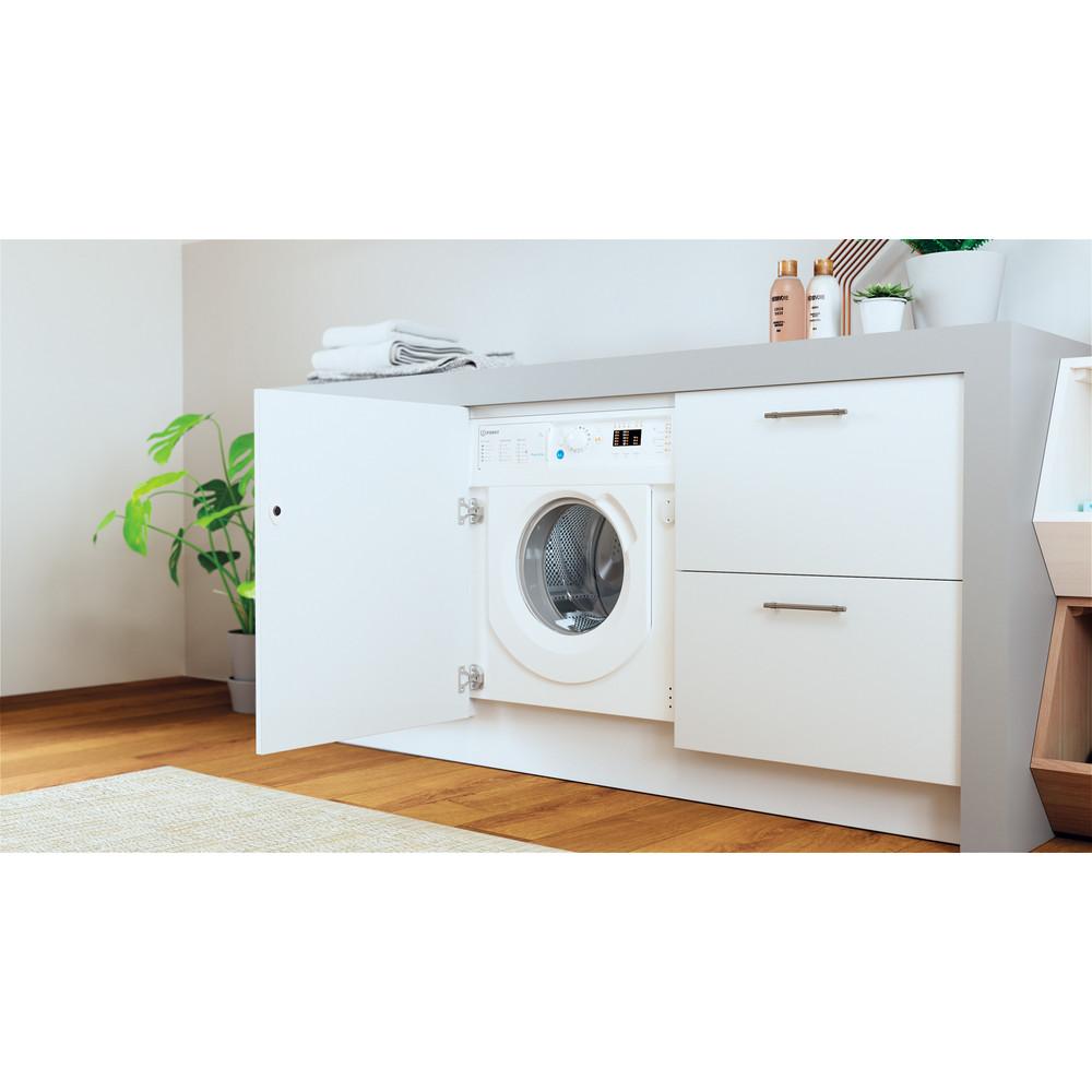 Indesit Washing machine Built-in BI WMIL 71252 UK N White Front loader E Lifestyle perspective