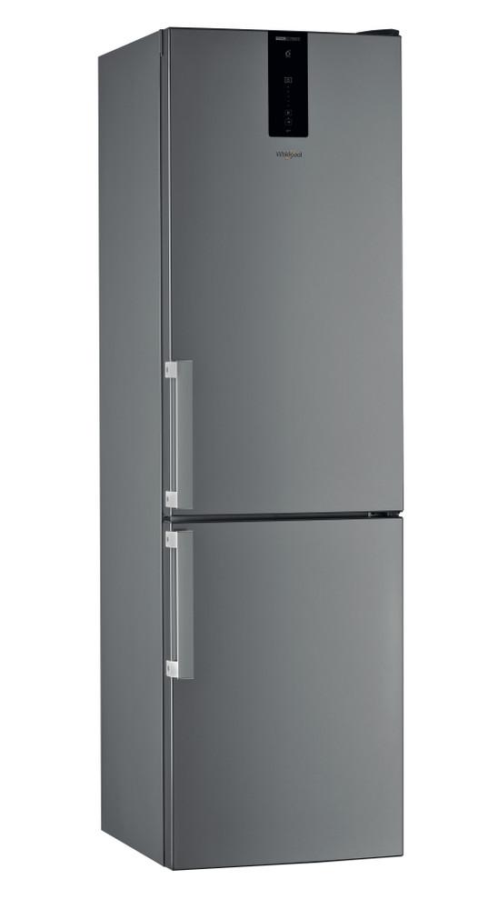 """Whirlpool Šaldytuvo / šaldiklio kombinacija Laisvai pastatomas W7 921O OX H """"Optic Inox"""" 2 doors Perspective"""