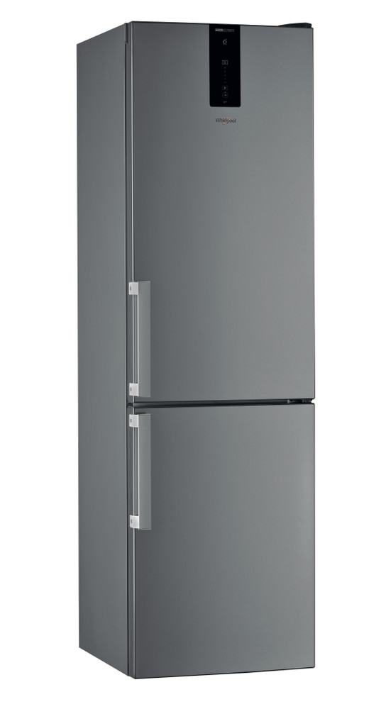 Whirlpool Fridge/freezer combination Samostojeća W7 921O OX H Optic Inox 2 vrata Perspective