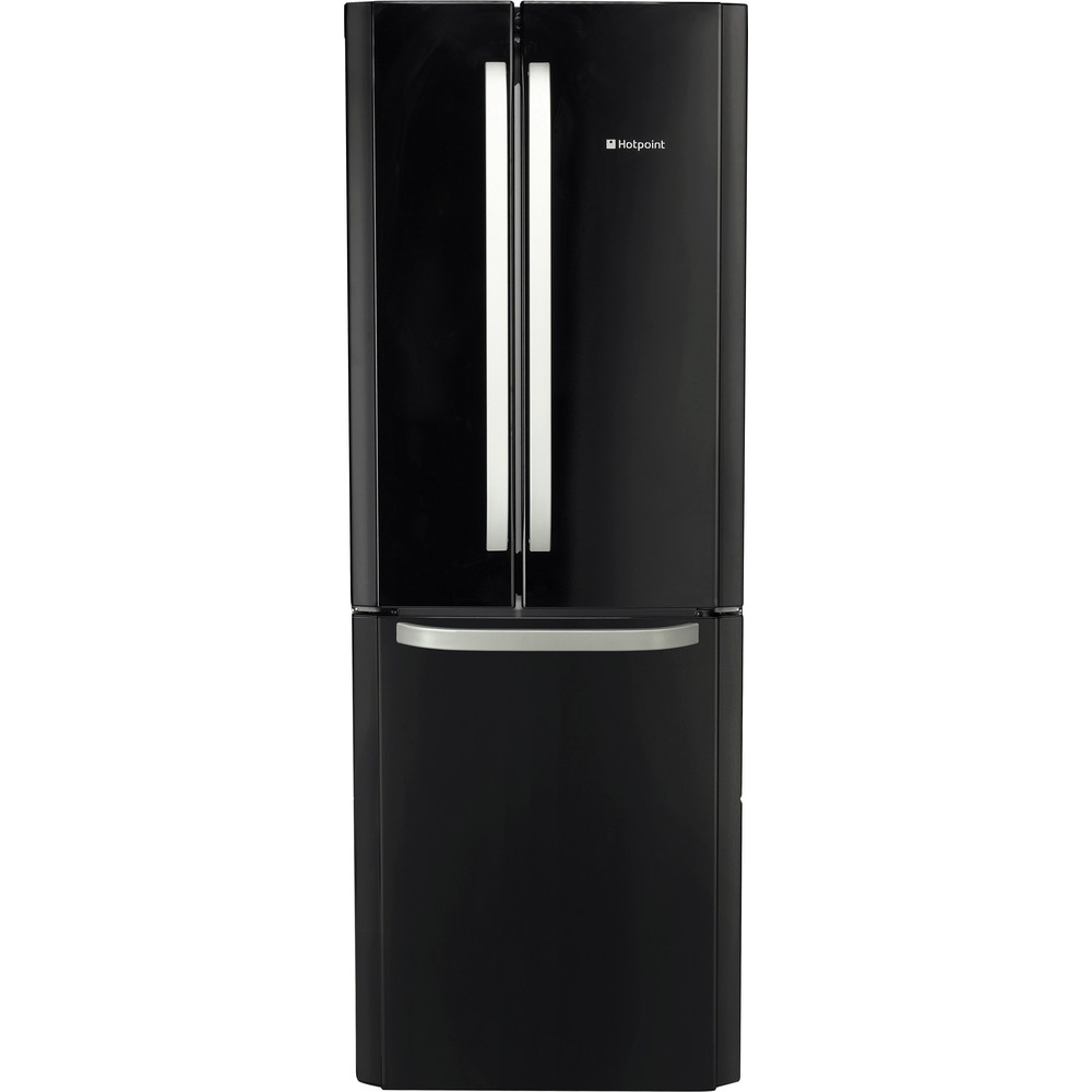 Hotpoint Fridge Freezer Free-standing FFU3DG K 1 Black 2 doors Frontal
