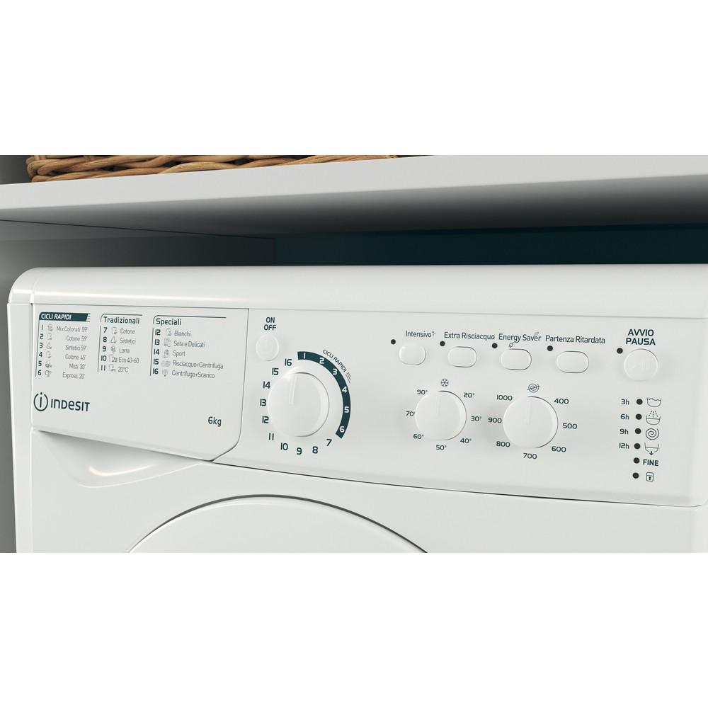 Indesit Lavabiancheria A libera installazione EWC 61051 W IT N Bianco Carica frontale F Lifestyle control panel