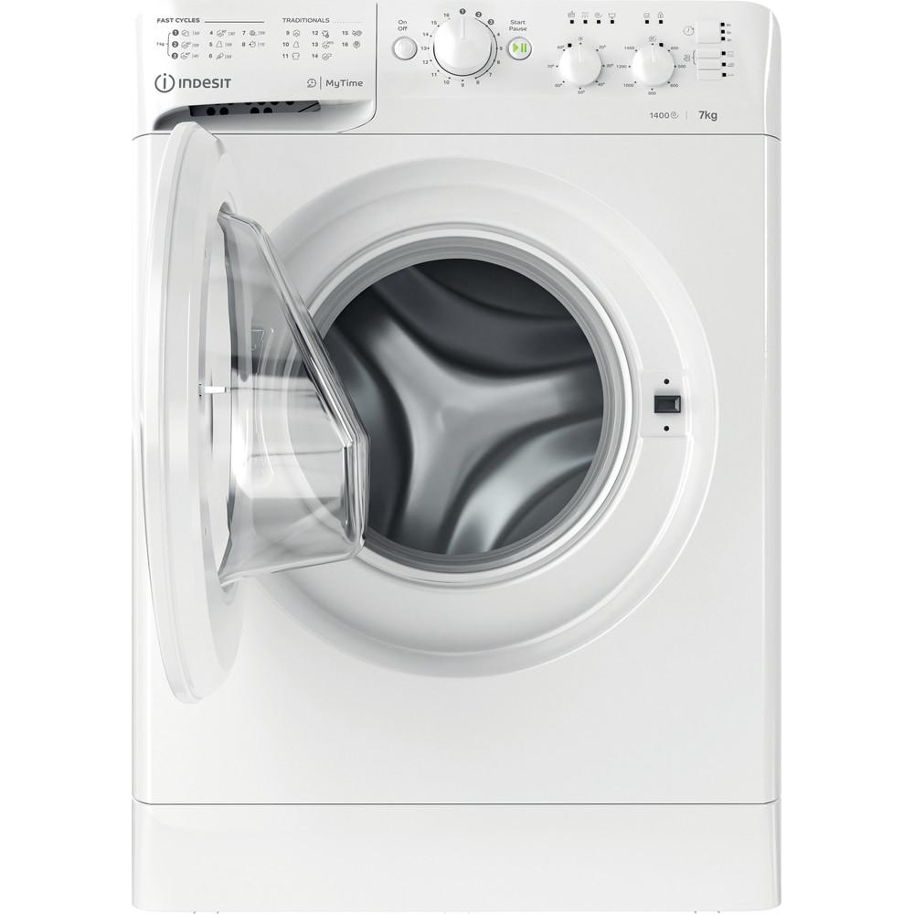 Indesit Vaskemaskine Fritstående MTWC 71452 W EU Hvid Frontbetjent E Frontal open