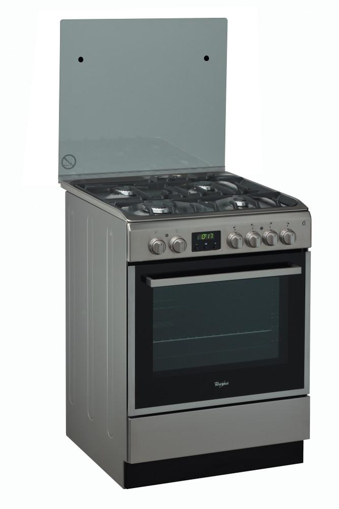 Whirlpool Cooker ACMT 6332/IX/1 Inox/Black Gas Perspective
