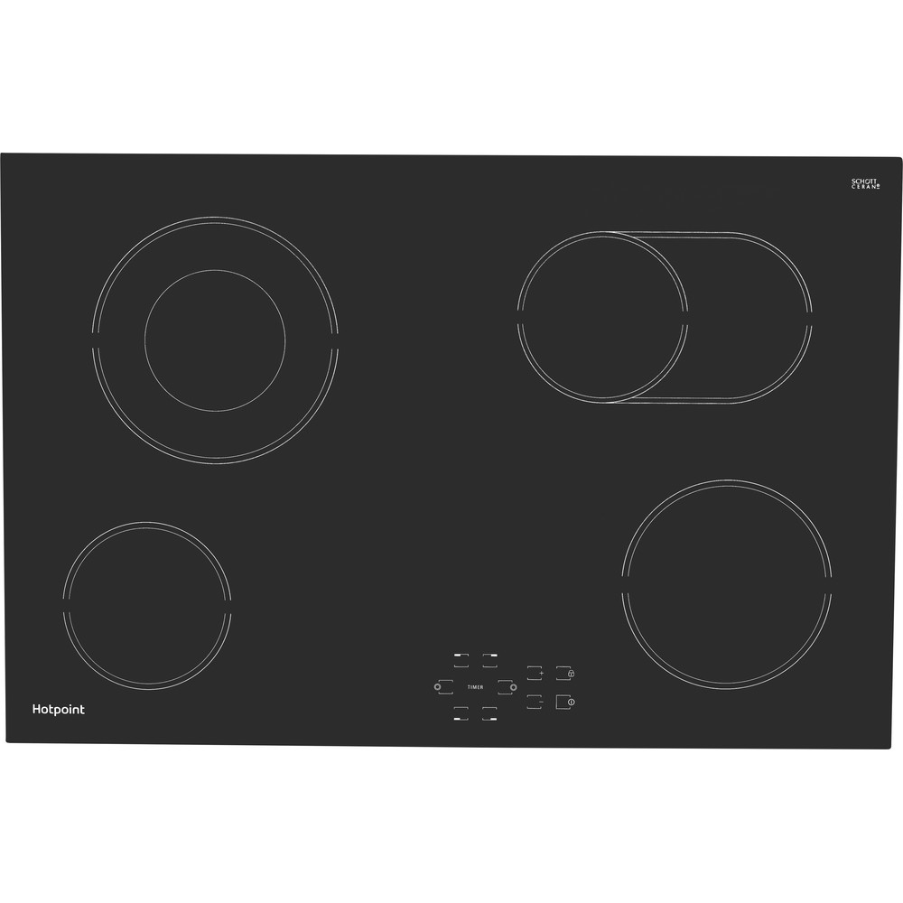 Hotpoint HOB HR 724 B H Black Radiant vitroceramic Frontal