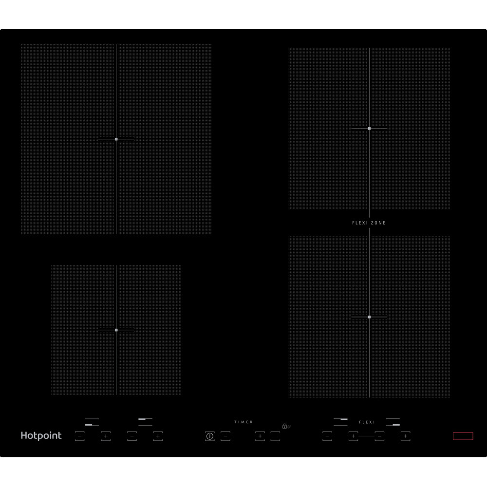 Hotpoint HOB CID 641 B B Black Induction vitroceramic Frontal