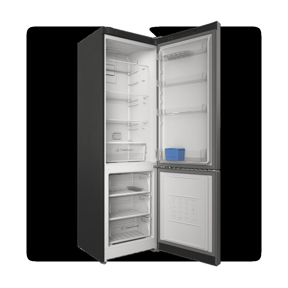Indesit Холодильник с морозильной камерой Отдельностоящий ITS 5200 X Inox 2 doors Perspective open