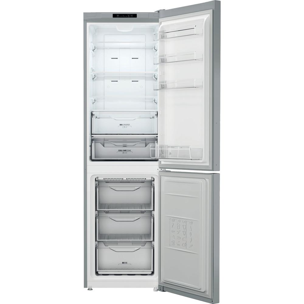 Indesit Combinación de frigorífico / congelador Libre instalación XI9 T2I X Inox 2 doors Frontal open