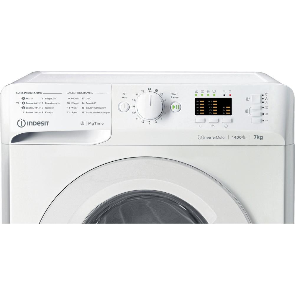Indesit Waschmaschine Freistehend MTWA 71483E W DE Weiß Frontlader D Control panel