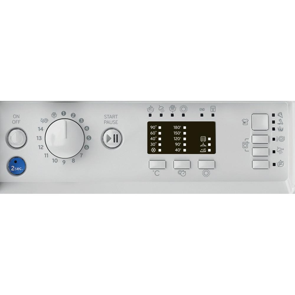 Indesit Washer dryer Built-in BI WDIL 75125 UK N White Front loader Control panel