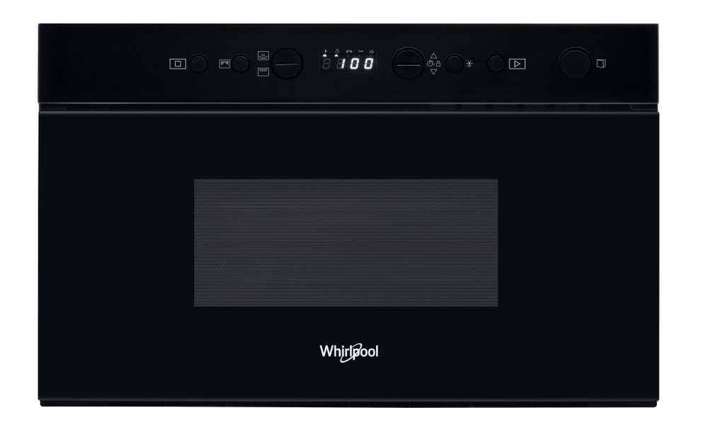 Whirlpool Mikrolaineahi Integreeritav W67 MN840 NB Must Elektrooniline 22 Mikrolained+grill 750 Frontal
