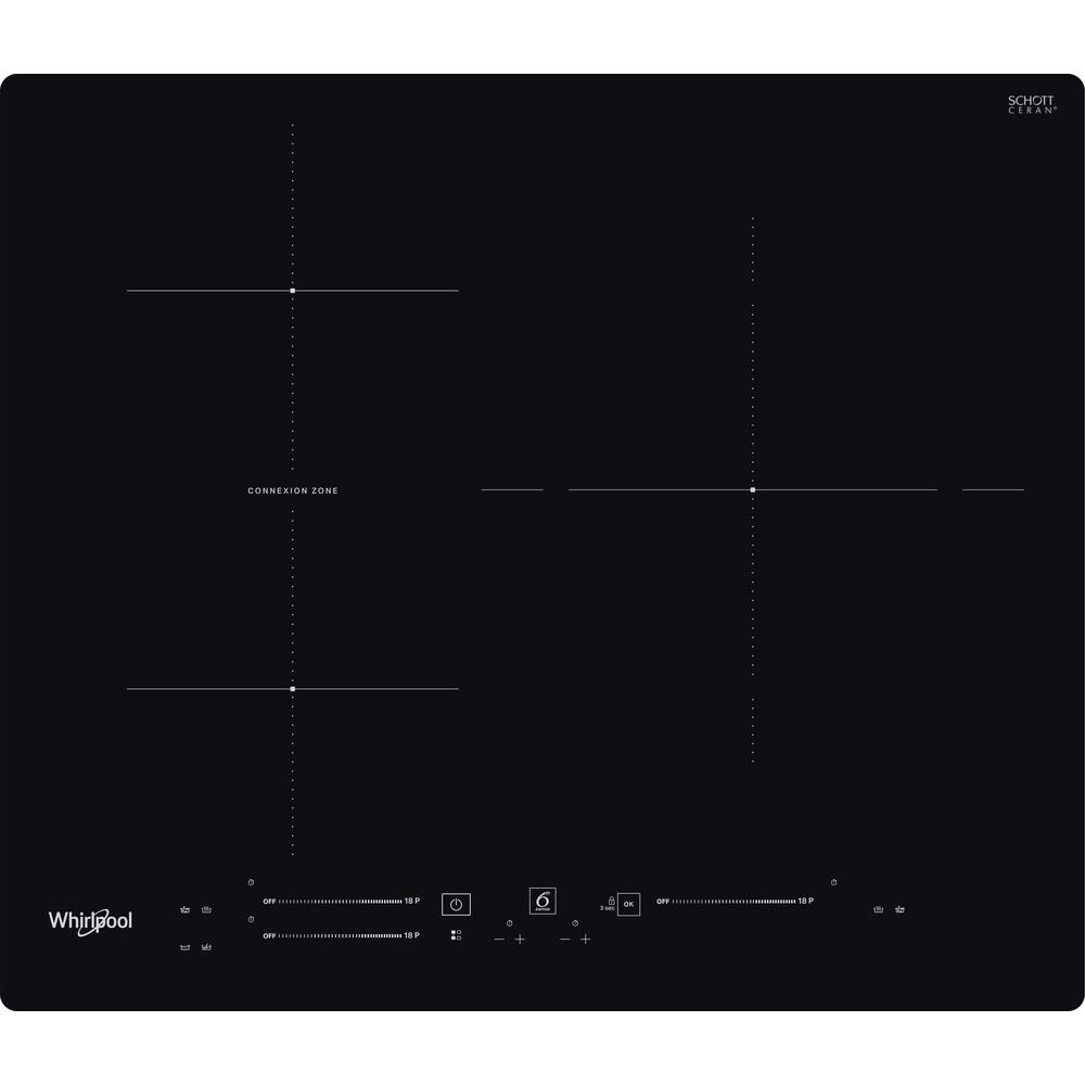 Placa de inducción Whirlpool - WB S5560 NE - 3 Zonas - Zona Grande 30cm