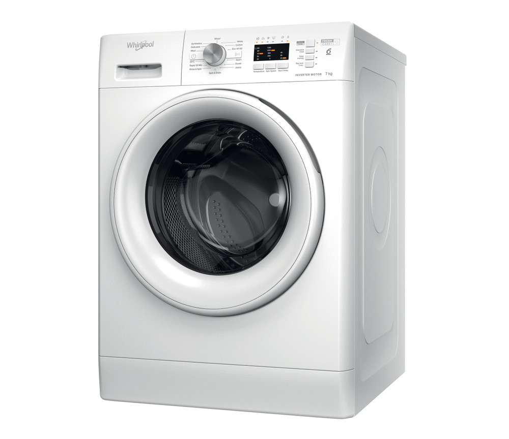 Whirlpool Washing machine Free-standing FFL 7238 W UK White Front loader D Perspective