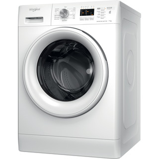Whirlpool Washing machine Free-standing FFL 7238 W UK White Front loader A+++ Perspective