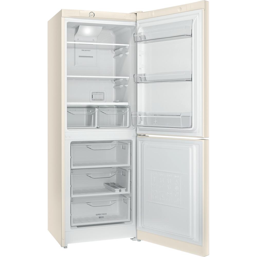 Indesit Холодильник с морозильной камерой Отдельностоящий DF 4160 E Розово-белый 2 doors Perspective open