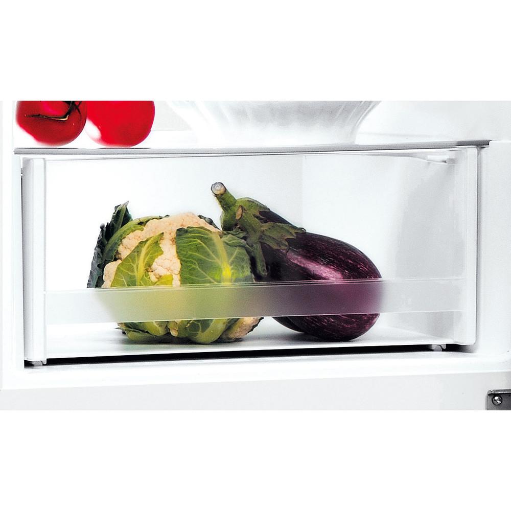 Indesit Hűtő/fagyasztó kombináció Szabadonálló LI7 SN2E W Fehér 2 doors Drawer