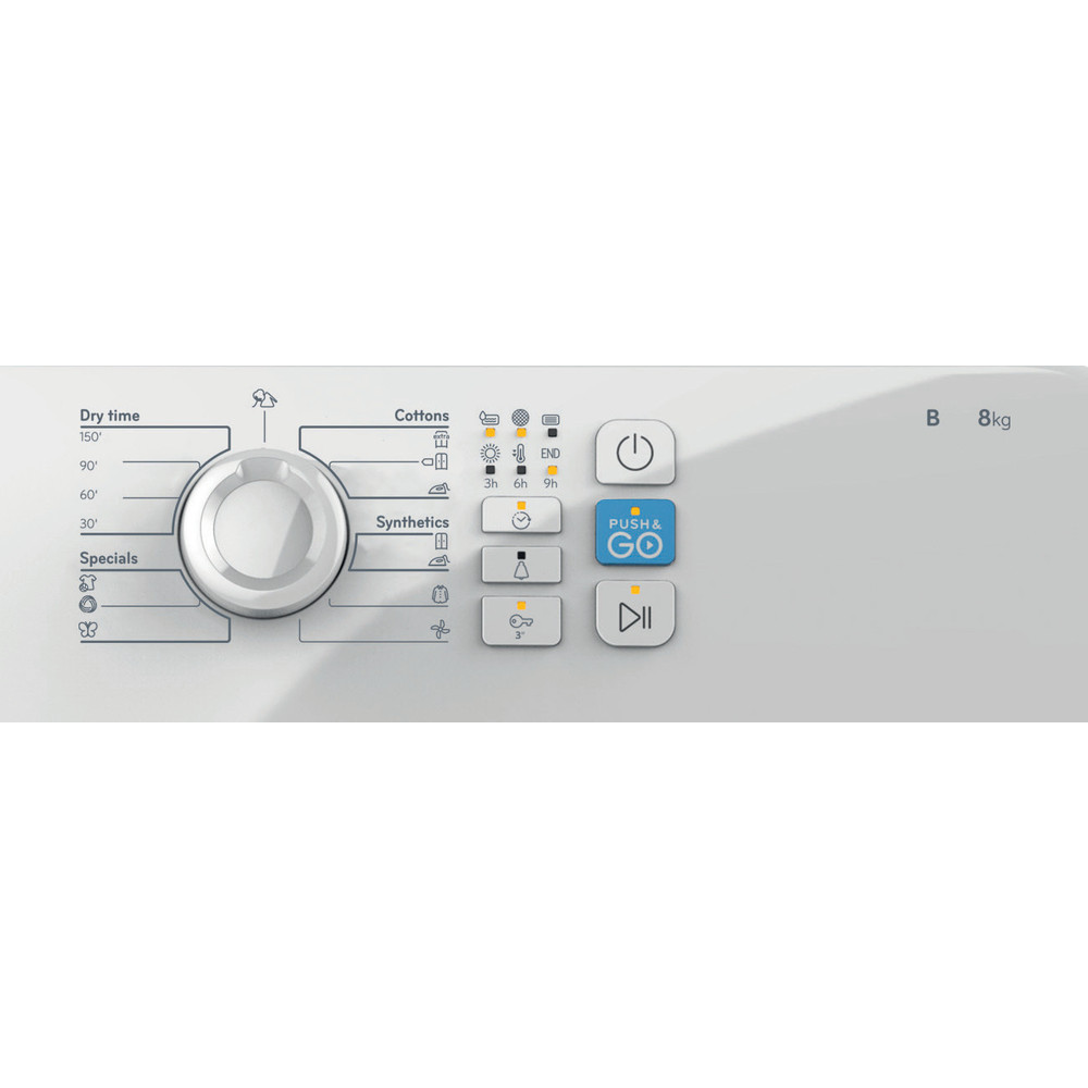 Indesit Mašina za sušenje veša YT CM08 8B EU Bijela Control panel