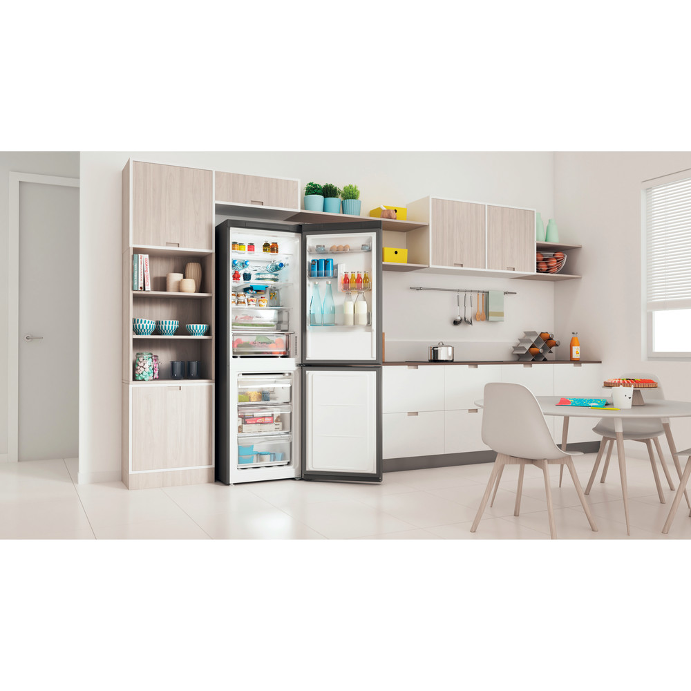 Indesit Kombinacija hladnjaka/zamrzivača Samostojeći INFC8 TO32X Inox 2 doors Lifestyle perspective open
