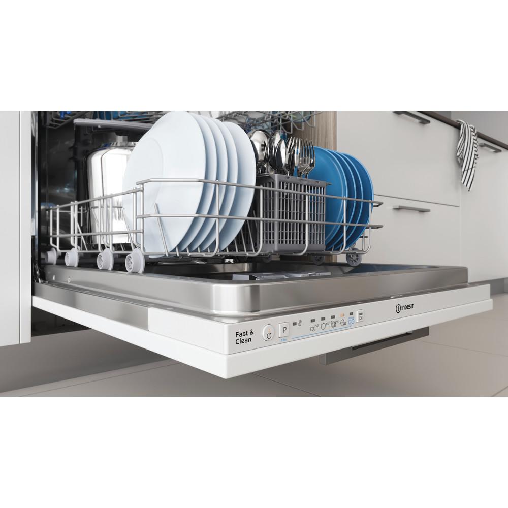 Indesit Dishwasher Built-in DIE 2B19 UK Full-integrated F Rack