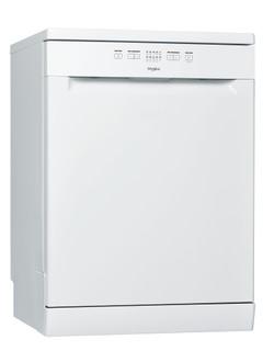 Whirlpool dishwasher: white color, full size - WFE 2B19