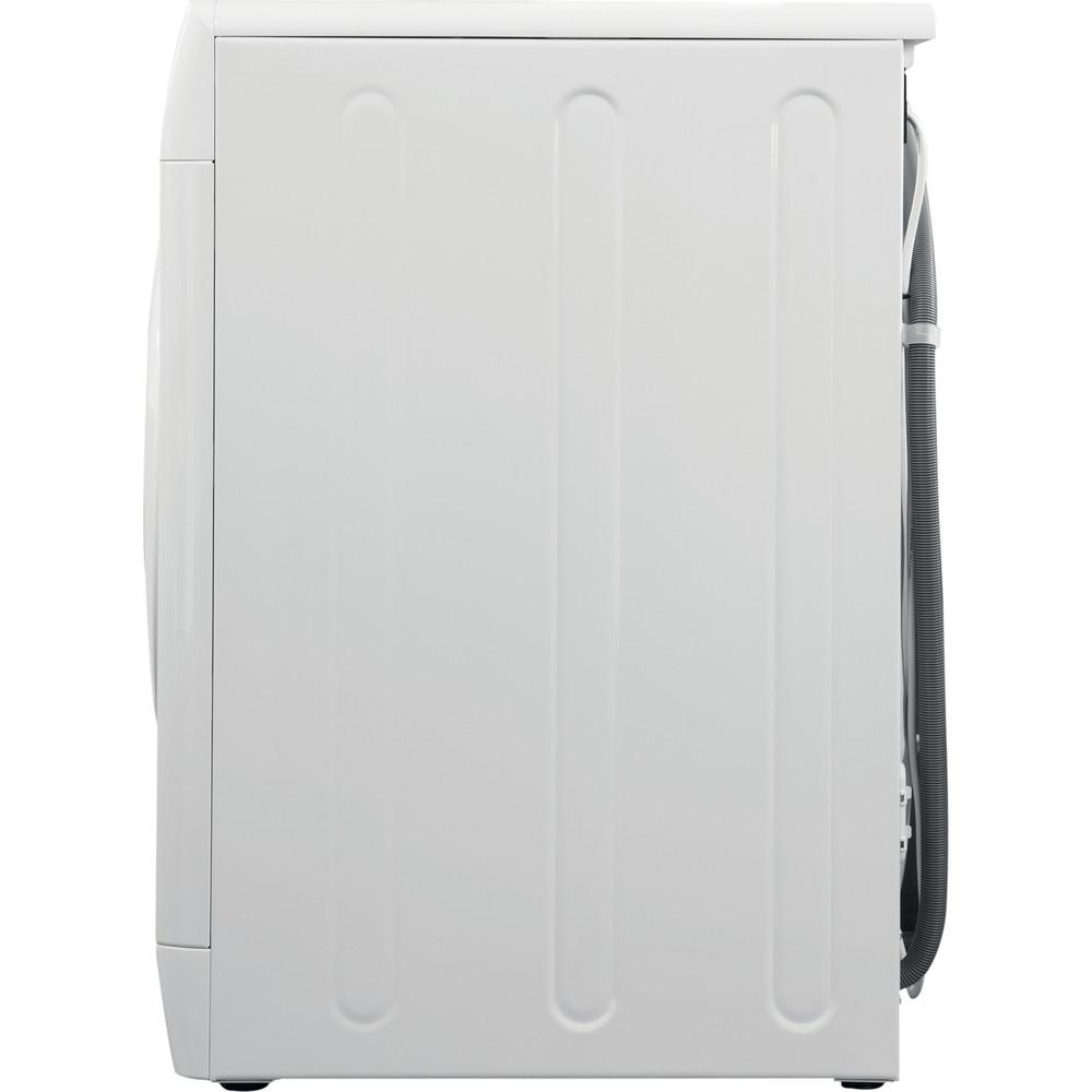 Indesit Стиральная машина Отдельностоящий BWSE 61051 Белый Фронтальная загрузка A Back_Lateral