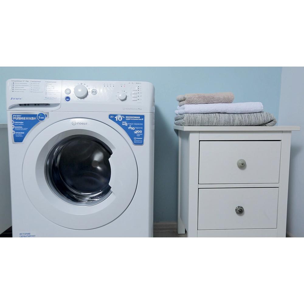 Indesit Стиральная машина Отдельностоящий BWSB 50851 Белый Фронтальная загрузка A Lifestyle_Frontal