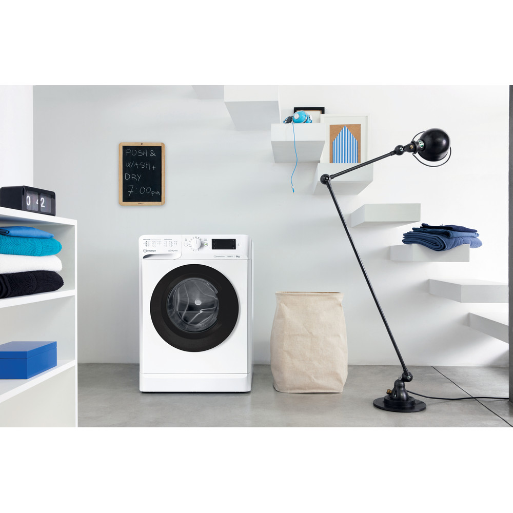 Indesit Пральна машина Соло OMTWE 81283 WK EU Білий Front loader A+++ Lifestyle perspective