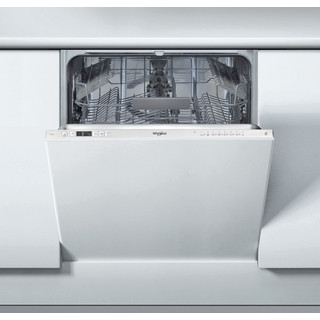 Whirlpool integrated dishwasher: silver color, full size - WIC 3C26 UK