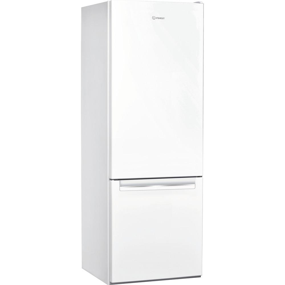 Indesit Комбиниран хладилник с камера Свободностоящи LI6 S1E W Глобално бяло 2 врати Perspective