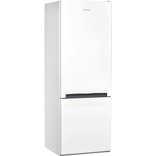 Indesit Réfrigérateur combiné Pose-libre LI6 S1E W Blanc 2 portes Perspective