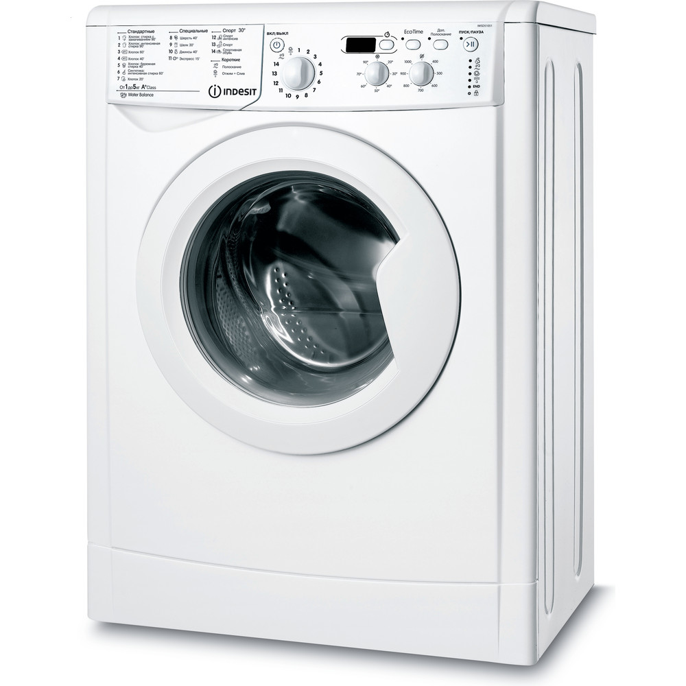 Indesit Пральна машина Соло IWSD 51051 UA Білий Front loader A+ Perspective