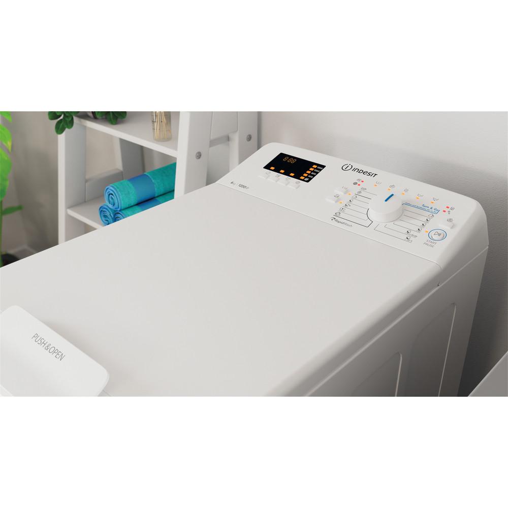 Indesit Waschmaschine Freistehend BTW D61253 N (EU) Weiß Toplader D Lifestyle perspective