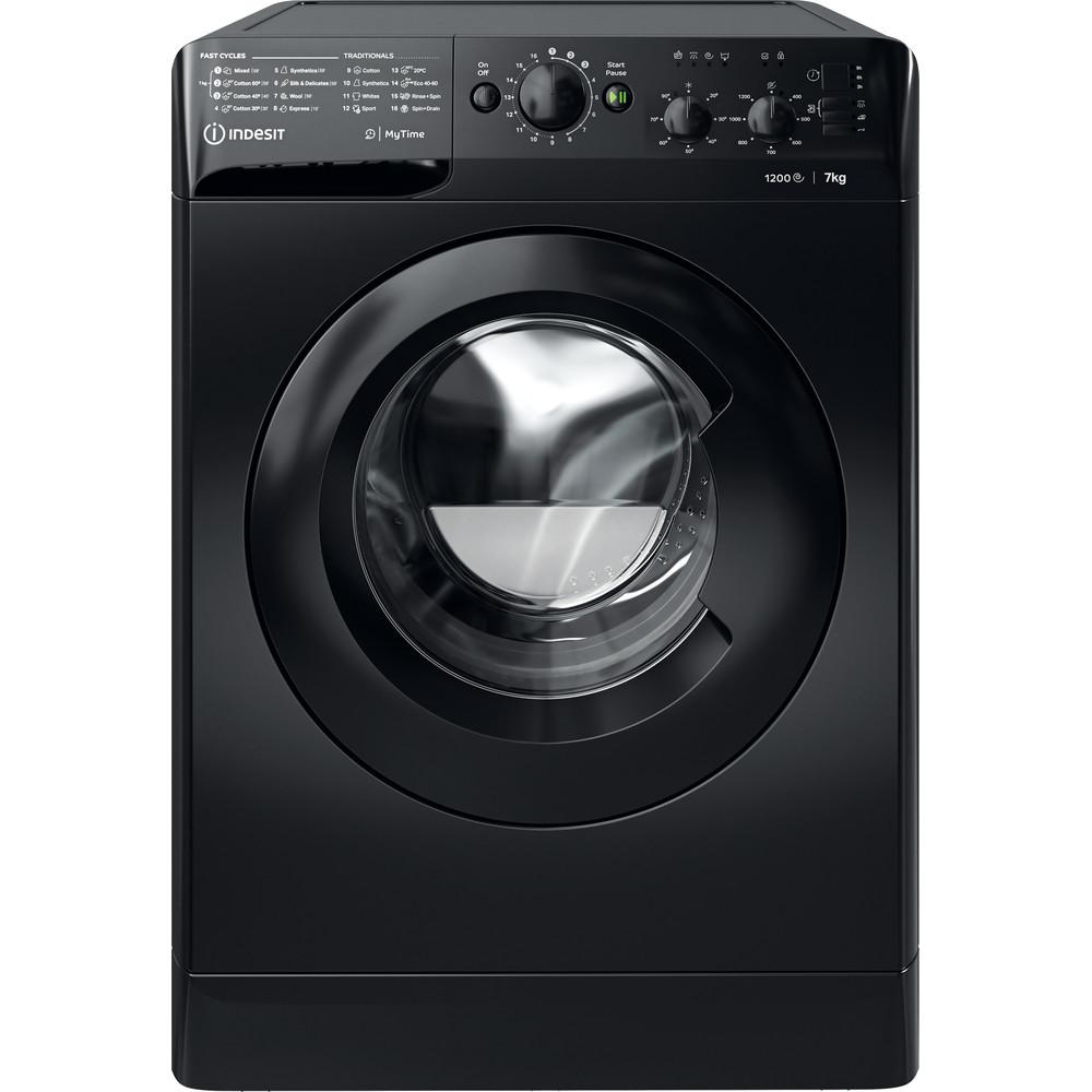 Indesit Washing machine Free-standing MTWC 71252 K UK Black Front loader E Frontal