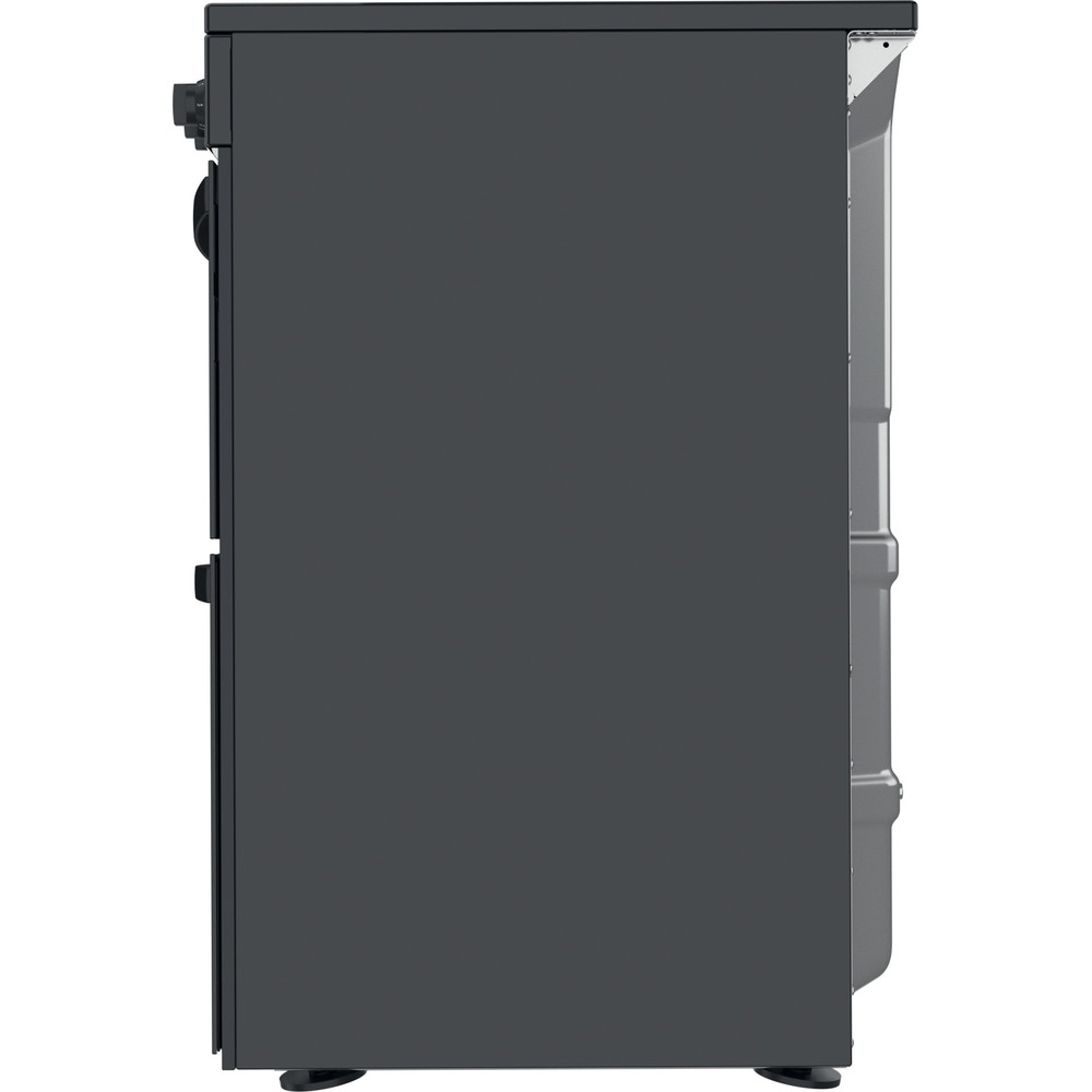 Indesit Double Cooker ID67V9KMB/UK Black A Back / Lateral
